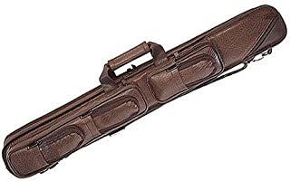 LC5 4B//8S Lucasi Brown Leatherette Soft Pool Cue Case Black Accents