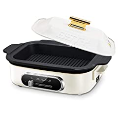 【6-in-1 Multifunction Skillet】The electric pan skillet support fried, grilled, broiled, boiled, steamed, and simmered. One BSTY multifunction electric skillet can instead of 6 kinds of cooking pan. 【4 Kinds Temperature Control Easily】Multifunction el...