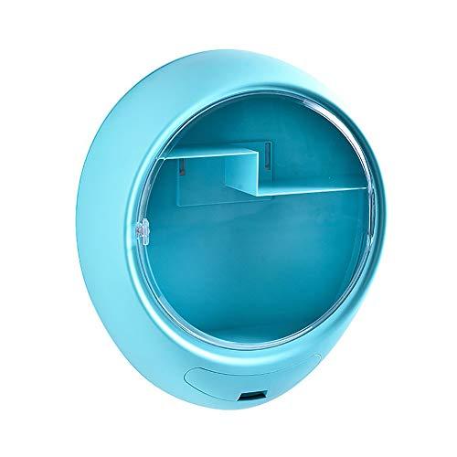 Caja de Almacenamiento de Maquillaje para Colgar en la Pared, Estante de plástico Transparente a Prueba de Polvo de plástico, encimera Impermeable de Gran Capacidad para Pinceles lápices labiales