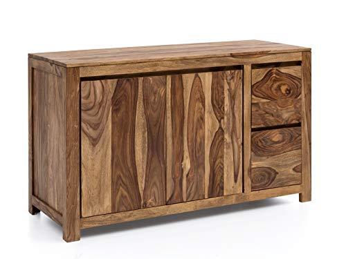 Woodkings® Waschtisch Leeston Holz Palisander massiv Waschtischunterschrank für Doppelwaschtisch Badmöbel Badezimmer Unterschrank Badschrank Massivholz