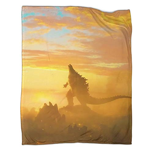 DRAGON VINES Manta decorativa para cama de 130 x 180 cm de película Godzilla King of the Monsters Sunrise Ruins Roar Cool