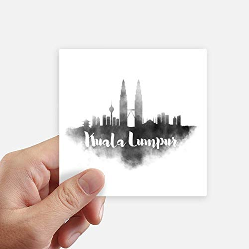 DIYthinker Malasia Landmark Tinta City Square Stickers 10cm Pared Maleta portátil Motobike Decal 8pcs 10cm x 10cm