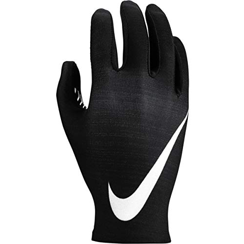 Nike Damen Women's Base Layer Laufhandschuhe, Black/Pure Platinum, S