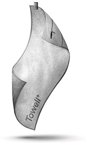 STRYVE Towell + | Sporthandtuch mit Tasche und Magnetclip, Bekannt aus Die Höhle der Löwen Brighte White/Rein Weiß