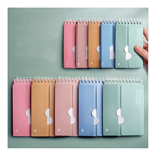 AAZZ Cuaderno Diario Anillo-Tipo portátil Notebook, Memorizar Wordbook Journal, luz de Color/del Color Oscuro del Diario, for la Escuela de Negocios, Papel Premium 3-10 Packs Cuadernos para Mujeres