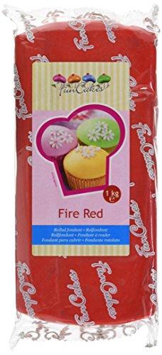 FunCakes Pâte à Sucre Rouge feu 1 kg