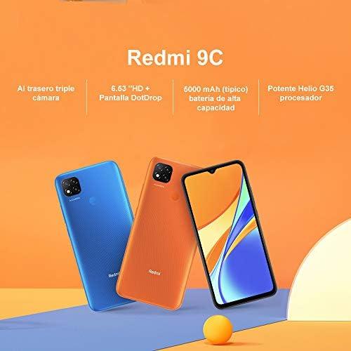 "Xiaomi Redmi 9C Smartphone, 3 GB + 64 GB, 6.53 ""HD + Dot Drop Display 5000mAh (typ), con Sblocco Faccial AI, 13 MP, Tripla Fotocamera, Blu (Twilight Blue) WeeklyReviewer"