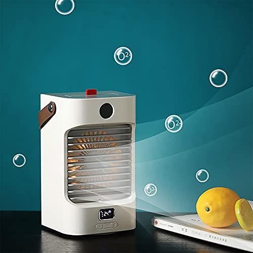Aire acondicionado portatil silencioso,Nuevo mini ventilador portátil de aire acondicionado de refrigeración de escritorio para el hogar, pequeño ventilador de aire acondicionado