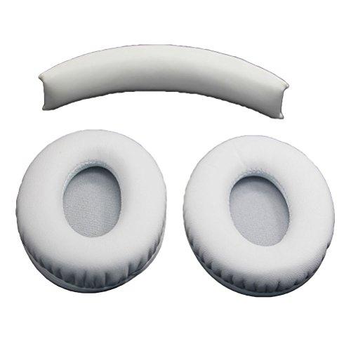 Ledmomo Ear auricolari di ricambio cuscino per Monster Beats by Dr. Dre studio 1.0cuffie (bianco)
