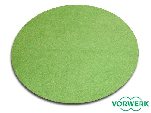 HEVO Vorwerk Bijou grün Spielteppich Nicht nur für Kinder 200 cm Ø Rund