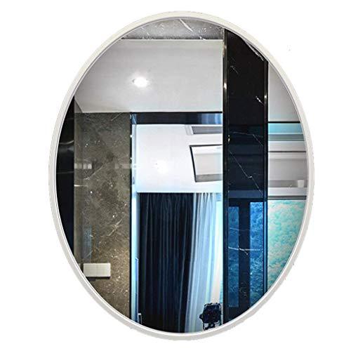LXYZ Hängende Spiegel Sauberer moderner Wandspiegel mit ovalem Rahmen Zeitgenössisches silberweißes schwebendes Glas Schlafzimmer, Badezimmer hängt horizontal vertikales Haus