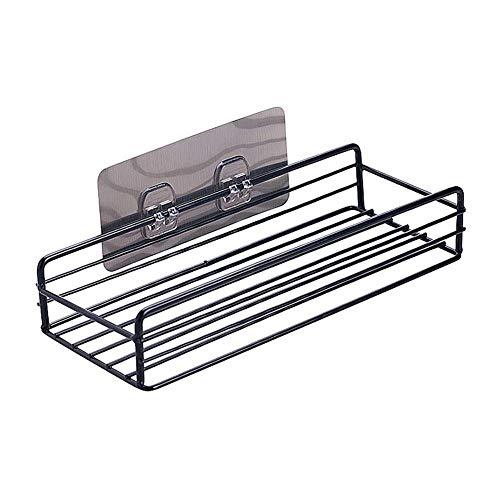 Abilieauty Eisen Küche Badezimmer Dusche Regal Aufbewahrung Saug Korb Teedose Ständer - Schwarz