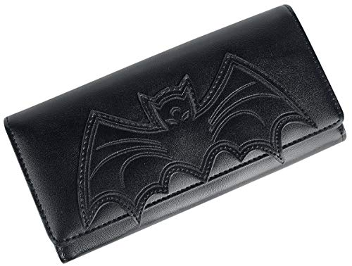 Banned Alternative Bat Wallet Frauen Geldbörse schwarz 100% Polyurethan Gothic, Rockwear