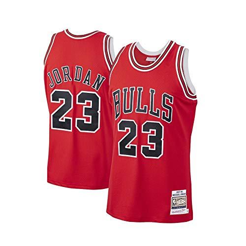 Camiseta de baloncesto para hombre, de Jordan-Bulls #23 Space Movie Squad, camiseta de baloncesto para fiesta, unisex, retro, sin mangas, bordada, color rojo y XXL
