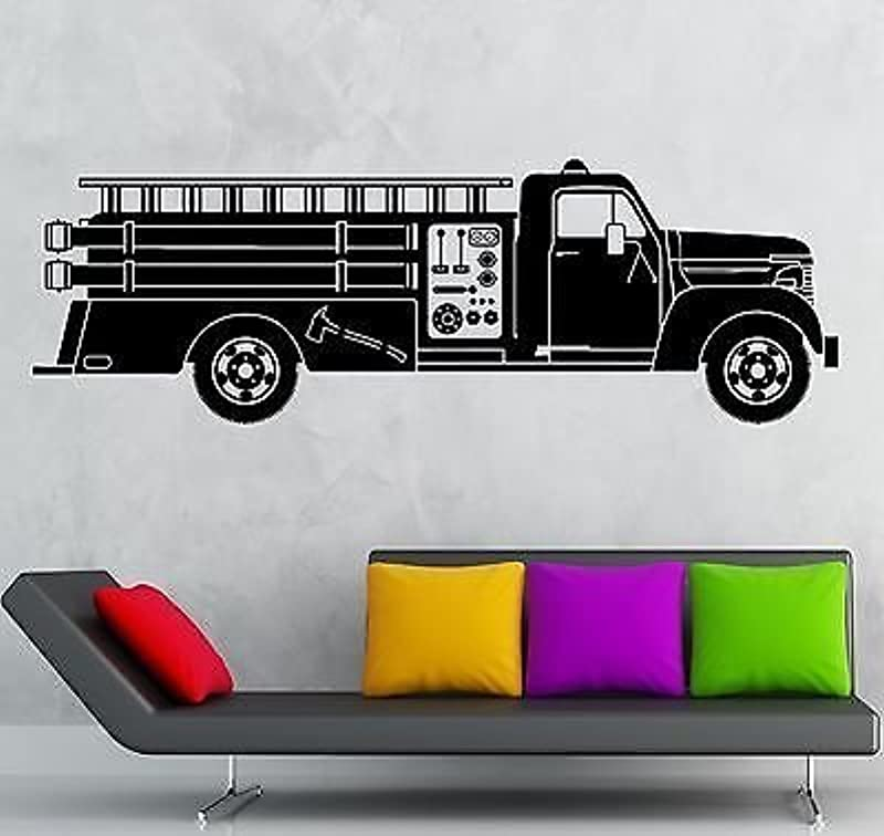 V Studios Wall Sticker Vinyl Decal Fire Truck Rescuers For Kids Room Nursery VS2017