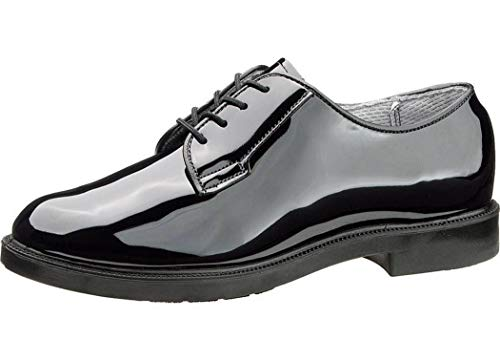 Bates Women's Lites High Gloss Oxford Shoes Round Toe Black 8 M
