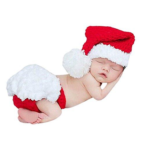 CHIC-Bébé Déguisement Costume Prop Photographie Bandeau Cheveux Fleur Ange 0-6M Halloween Père Noël Bonnet Cadeau