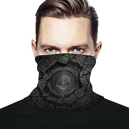 Best-design Harley Davidson Máscara facial bandanas a prueba de viento bufanda calentador de cuello pasamontañas para polvo, al aire libre, festivales, deportes negro