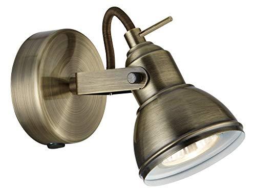 Searchlight Industriale 1 LT Antique BRASS SPOTLIGHT 50 W, ottone anticato
