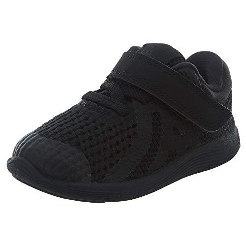 Nike Revolution 4 (TDV), Zapatillas de Gimnasia Unisex bebé, Negro (Black/Black 004),...