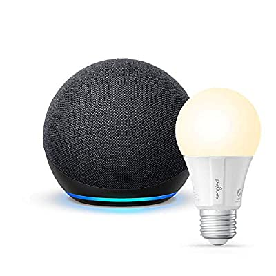 All-new Echo Dot (4th Gen) - Charcoal - bundle with Sengled Bluetooth bulb by