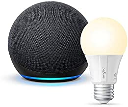 All-new Echo Dot (4th Gen) - Charcoal - bundle with Sengled Bluetooth bulb