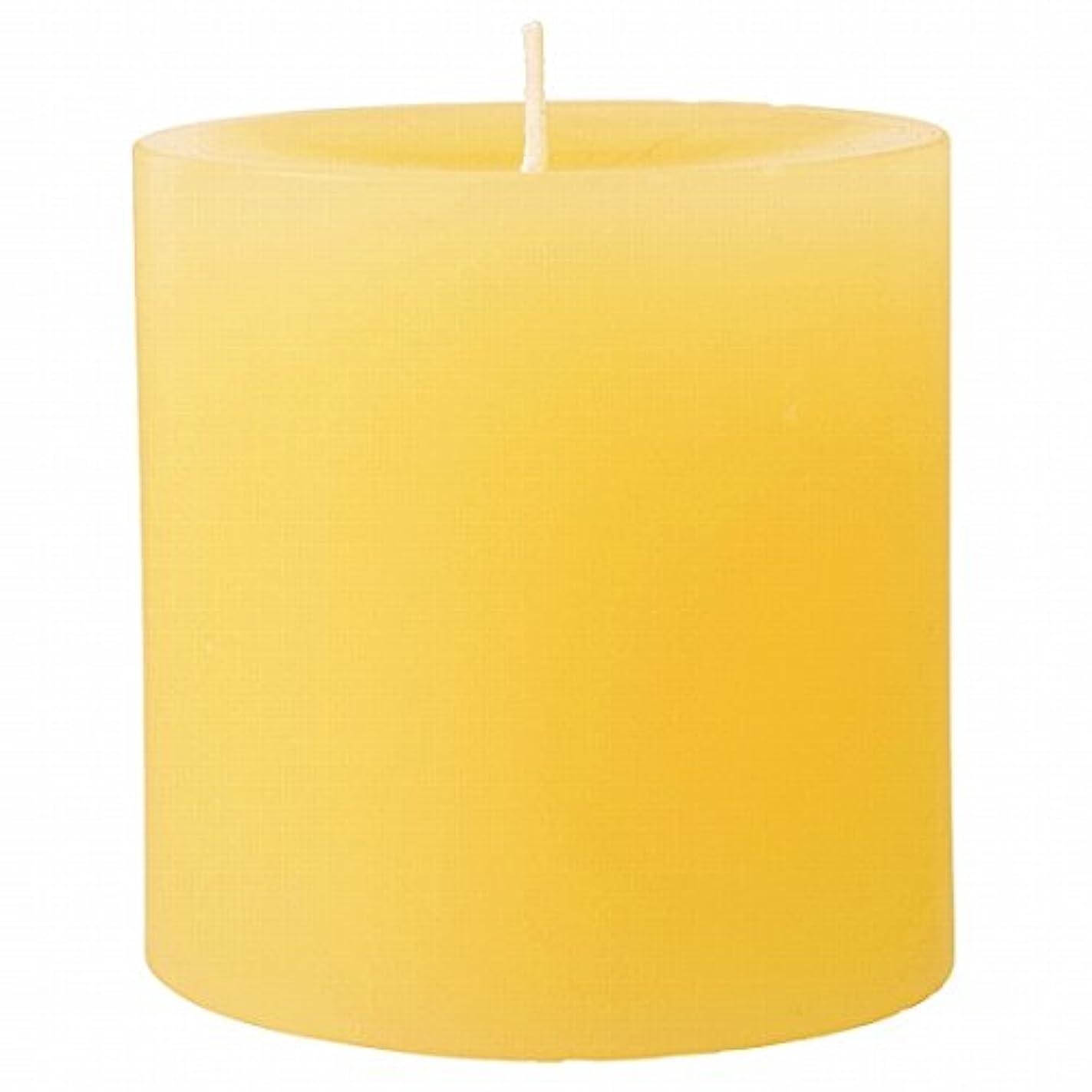 七時半ガラス狂ったカメヤマキャンドル(kameyama candle) 75×75ピラーキャンドル 「 アイボリー 」