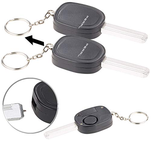 VisorTech Alarm: 2er-Set Personenalarm im Autoschlüssel-Design, 110-dB-Sirene, Kuli (Personal Alarm)