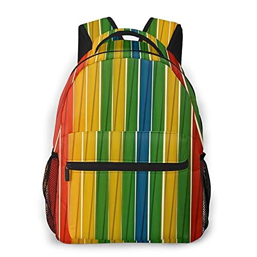 BYTKMFD Mochilas de patrón colorido para libros escolares bolsas de transporte universitario ligero viaje deportes Daypacks, Negro, Talla única