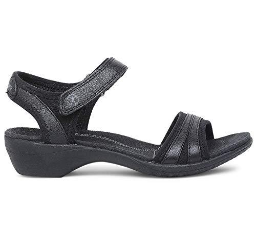 Athos Black Leather Fashion Sandals