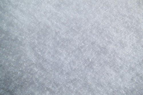 pemmiproducts Schneeflocken Matte 1,5 x 2,5 m (EUR 4,77/ m²), 100g m², ca.1 cm dick, 3.75 m², aus Baumwolle, kompostierbar, Schneematte, Schneedecke mit Schneeflockenoptik