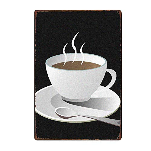 Chunzo Enjoy Coffee wandpanelen van tin, vintage schilderij op ijzer, retro waarschuwing metalen plaat decoratie voor park café bar cafeteria