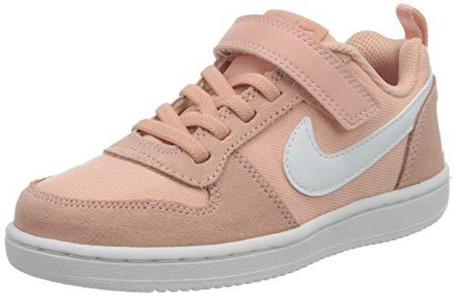 Nike Court Borough Low PE (PSV), Scarpe da Basket Bambino, Multicolore (Coral Stardust/White 000), 29.5 EU