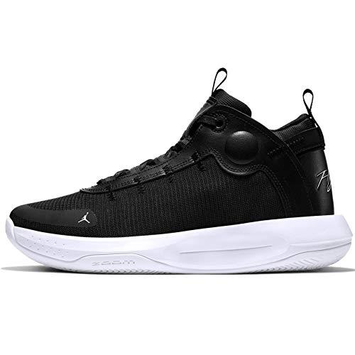Jordan Men's Jumpman 2020 Basketball Shoes (10.5, Black/White-Electric Green)