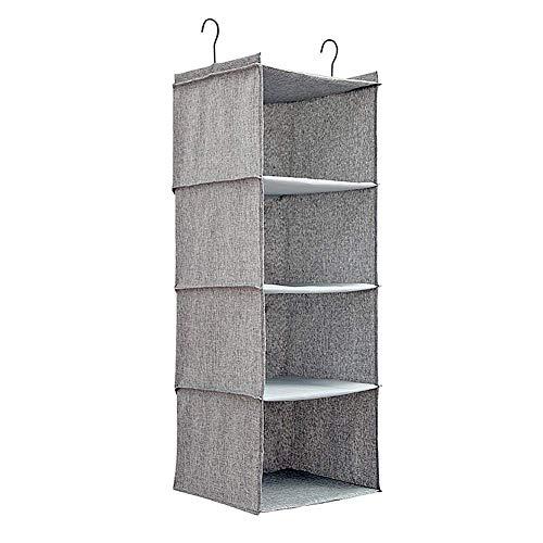 Speicher Organisatoren for Garderobe hängende Lagerung Kleiderschrank Kleiderschrank Lagerung Kleiderschrank Veranstalter Wandspeicher Schuhspeicherlösungen Schuhablage hängen grau, 4 zcaqtajro