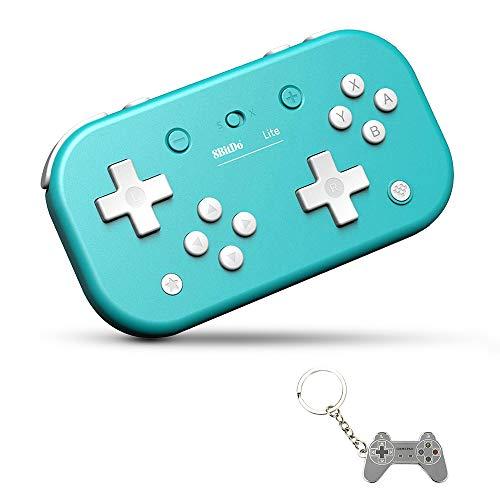 Preisvergleich Produktbild AKNES lite bluetooth wireless controller gamepad für nintendo switch & lite,  nintendo schalter und fenster,  dampf,  raspberry pi (turquoise ausgabe)
