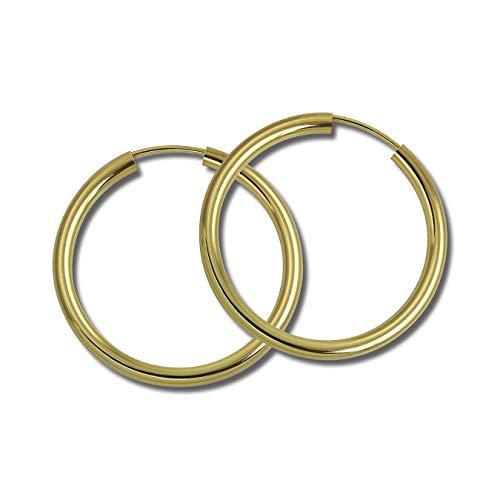 SilberDream Ohrringe Creolen 30mm Silber 333 gold Simply für Damen D2SDO0053Y ein schönes Geschenk zu Weihnachten, Geburtstag, Valentinstag für die Frau