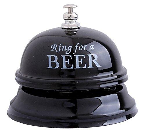 ODN 1 Stück Rezeptionsklingel Tischklingel Tischglocke Schelle Glocke Klingel (Schwarz)