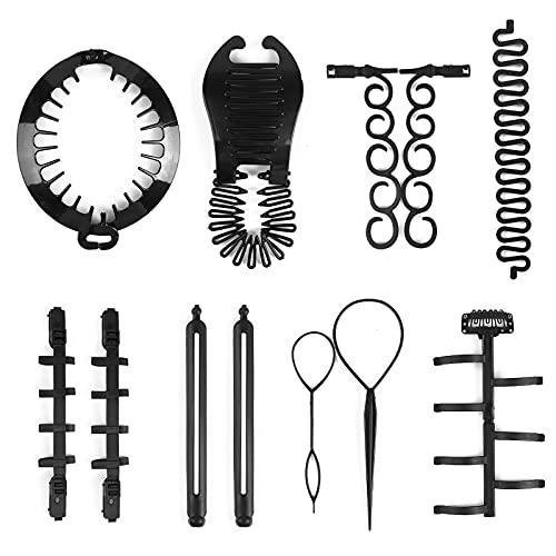 12pcs Hair Braiding Tool, French Br…