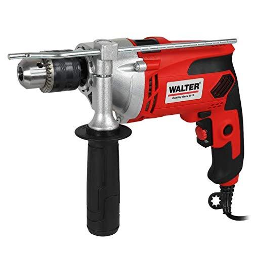 WALTER Schlagbohrmaschine (910 Watt, elektr. Drehzahlregelung, mit zweiten Handgriff, Tiefenanschlag, max. Bohr-Ø: Holz: 25 mm, Beton: 16 mm, Metall: 13 mm)