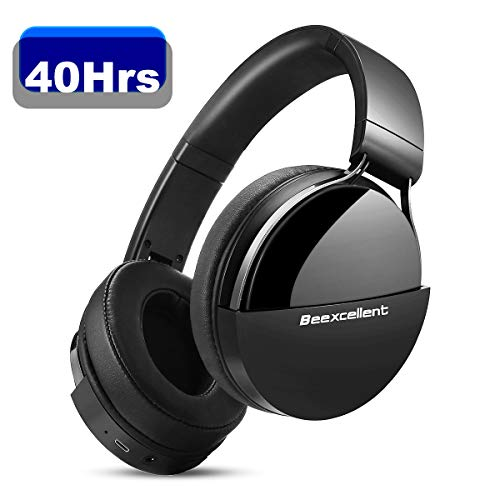 Bluetooth Kopfhörer Kabellose, Beexcellent Bluetooth V5.0 40 Stunden Spielzeit Wireless Kopfhörer Stabile Verbindung Hi-Fi Headset Over Ear mit Mikrofon für iPhone Android Handy IPad Tablet Laptop