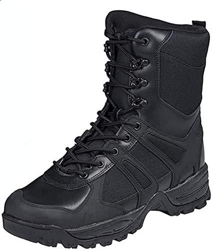 Botas de combate, color negro, hombre, negro, 44...