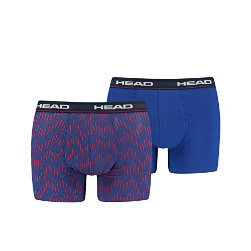 Head All-Over-Print Men's Boxer (2 Pack), Rojo y Azul, S para Hombre