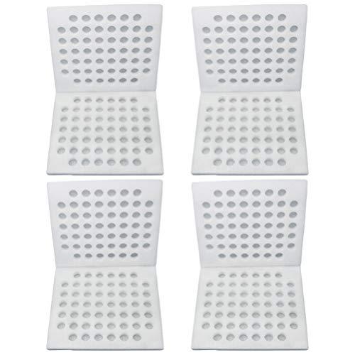 Holibanna 4PCS Perle Wolle Wachtel Eier Tablett Schaum- Gefüttert Ei Tablett Wachtel Eier Lagerung Container für Home Mall Shop
