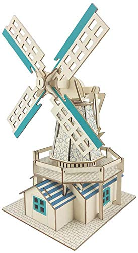 GXT Puzzle Juguete de Madera 3D Rompecabezas en Tres Dimensiones de construcción Manual de Montaje de Bricolaje Modelo Casa de Madera...