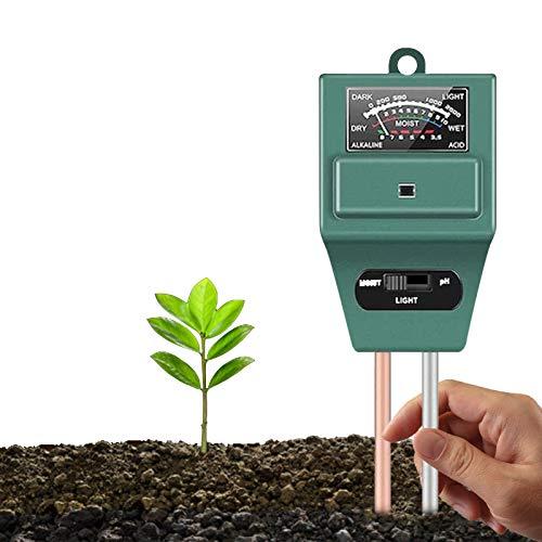 Bowtus Soil PH Tester 3 in 1 Kit, Plant Soil Testing Kit With Moisture...
