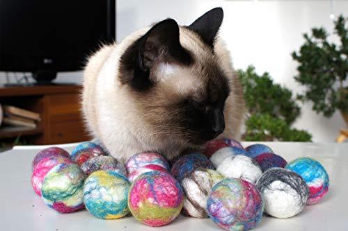 猫のおもちゃ。ウールボール。 生態や自然羊毛。 手作り。羊毛フェルト. 10個セット(10)