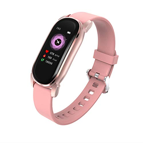 XUEXIU Mujer Bluetooth Teléfono Smart Reloj Mujeres Impermeable Deportes Fitness Reloj De Salud Nuevo SmartWatch Smart Pulsera Femenina (Color : Silicone Pink)