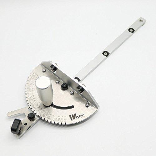 Herramientas de carpintería DIY Miter Gauge para Sierra de mesa/Router Sawing Accesorios Regla