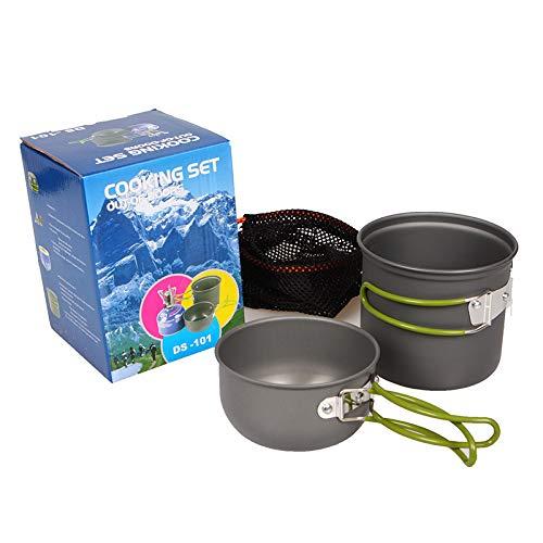 LYYCEU Camping Cookware Outdoor Cookware Set Camping Tableware Cooking Set Travel Tableware Cutlery Utensils Hiking Picnic Set (Color : Tableware Pot)
